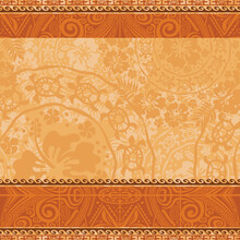 Hawaiian Style Wallpaper With Hibiscus Turtles And Tribal Motifs  Vintage Floral Vector Seamless Pattern