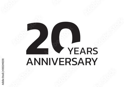 Leinwand Poster 20th anniversary logo
