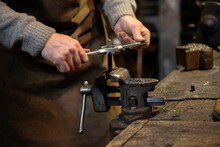 Professional Blacksmith Workin...