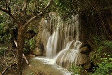A Small Waterfall In The Green...