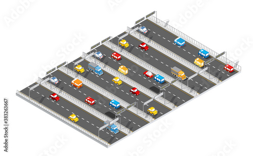 City boulevard isometric avenue Canvas