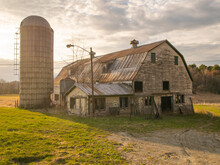 Weathered Vermont Barn At A Su...
