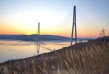 Vladivostok Bridge In The Rays...