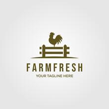 Chicken Farm Logo Vector Illus...