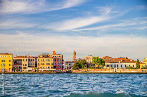 Canvas Print Embankment of Fondamenta Zattere Ai Gesuati in Venice city historical centre