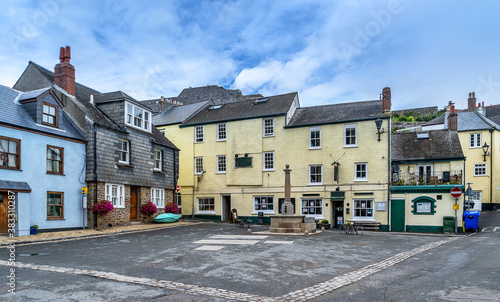 Fotografie, Obraz The Cornwall village of Cawsand on the Rame peninsula
