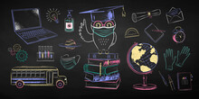 Education Chalk Drawings Colle...
