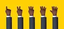3d Render, African Cartoon Cha...