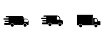 Set Of Delivery Car Icon Symbo...
