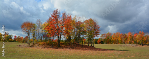 Valokuva Fall landscape eastern townships Bromont Quebec province Canada