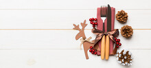 New Year Set Banner Of Fork An...