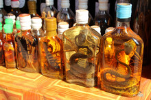 Bottles Of Snakes And Scorpions Alcohol In Luang Prabang (laos)