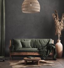 Living Room Interior, Ethnic S...