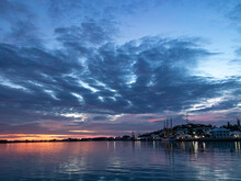 Blue Sunset Over St. George Bay, Bermuda