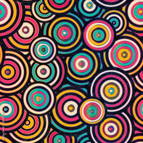 Tapety Japońskie  geometryczny-wzor-retro-kolo