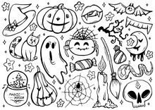 Halloween Coloring Page With S...