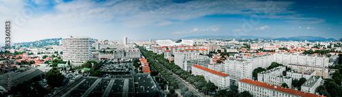 panoramic photo of Marseille - boulevard michelet - velodrome stadium - aerial v Wallpaper Mural