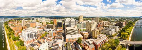 Fotografia, Obraz Harrisburg, Pennsylvania aerial panorama on a sunny day