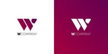 Monogram Letter W Logo, Weave Thin Line Style, Mockup Wedding WW Initials Invitation Emblem, Design Element Template.