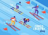 Skiing Isometric Composition