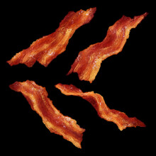 Bacon Slices Fried Snack Water...