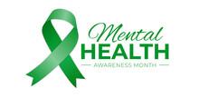 Mental Health Awareness Month Logo Icon On White Background