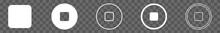 Stop Button Icon Circle White ...