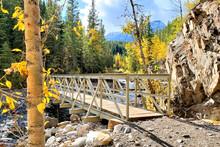 Bridge Over Rocky River Bed In...