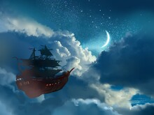 Wallpaper Of Pirate Ship In St...