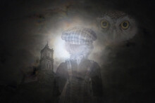 Dark And Scarey Nightmare For Halloween Night Background.