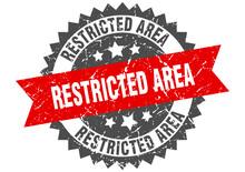 Restricted Area Stamp. Grunge ...