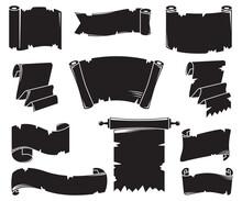 Silhouette Blank Paper Scroll ...