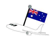 Airplane With Australian Flag ...