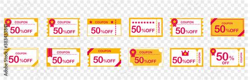 Photo coupon voucher discount ticket vector