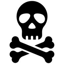 Skull Symbol Of Toxic