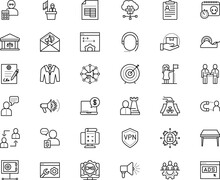 Business Vector Icon Set Such ...