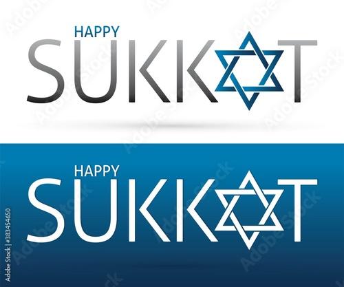 Sukkot text design, Feast of tabernacle sign cartoon graphic vector