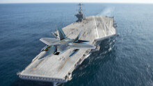 Fighter Jet And Aircraft Carrier