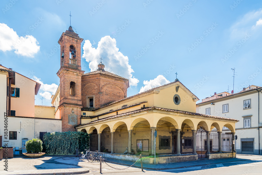 View at the Church of Del Pozzo in the streets of Empli town, Italy