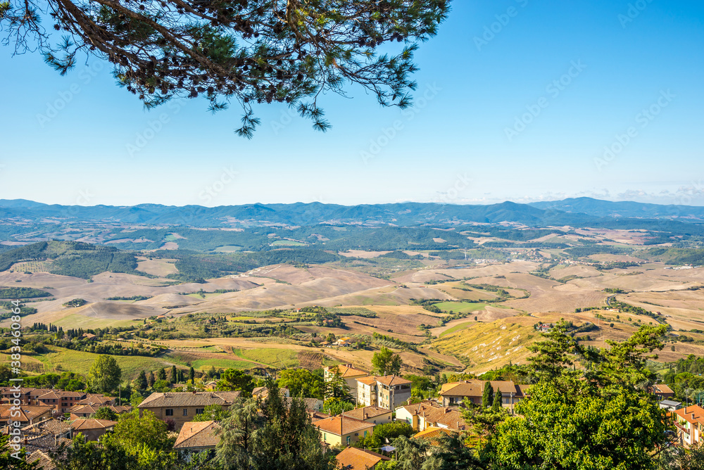 View to Countryside near Voltera town - Italy