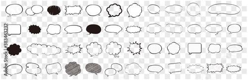 Fotografie, Obraz Speech bubbles word box cartoon