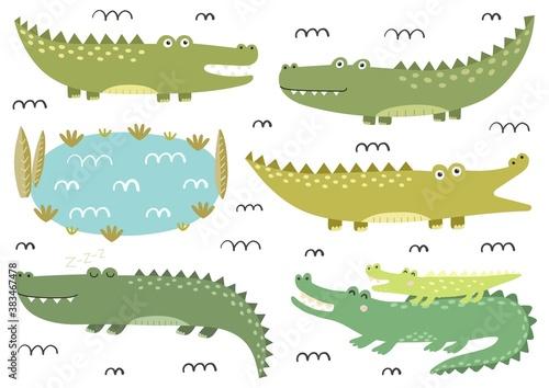 Photo Funny crocodiles collection