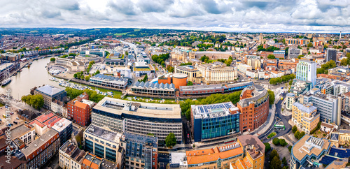 Aerial panorama of in Bristol
