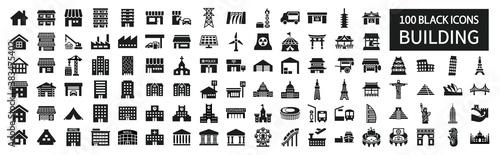 Foto Building icon set 100 around the world