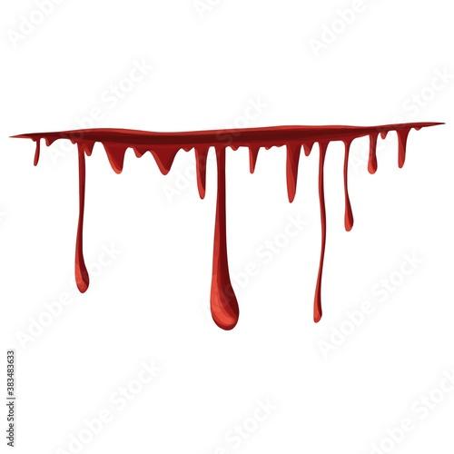 Fotografía Simple minimal realistic bleeding wound icon halloween illustration vector desig