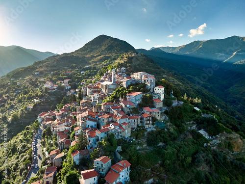 The town of Triora in the italian region of Liguria.