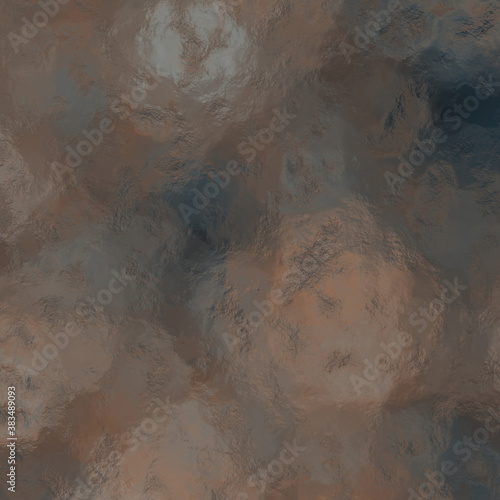 Brown beige acrylic shiny cement background, abstract textured metal shine