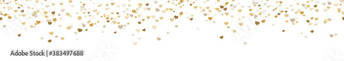 Fotomural seamless confetti hearts background