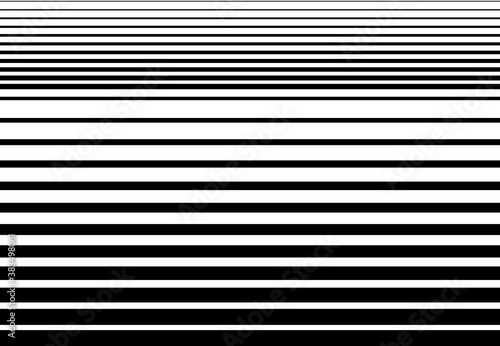 Cuadros en Lienzo Halftone random horizontal straight parallel lines, stripes pattern and background