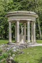 Antique Gazebo In English Garden (Jardin Anglais, 1817). Chantilly, Oise, Picardie, France.